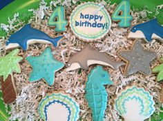 Dolphin cookies, under the sea cookies.