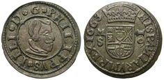 FELIPE IIII, 16 MARAVEDIS. 1663. MADRID - S. BUENA CALIDAD.   eBay