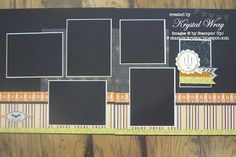 Stampin up page Witches brew