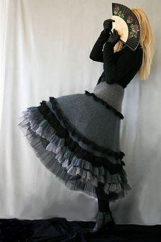 Ravelry: Jennica's Winter Niagara Falls lady knit ruffle skirt