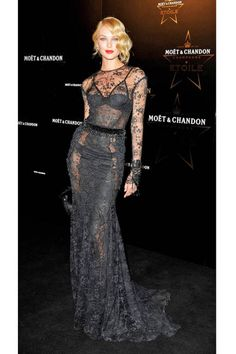 Candice Swanepoel stuns in lacy Tom Ford