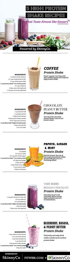 5 high protein shake recipes that taste delicious