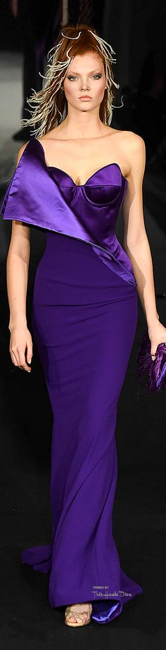 Alexis Mabille Purple Gown/Dress.