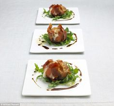 Roasted figs with Parma ham and goat's cheese...