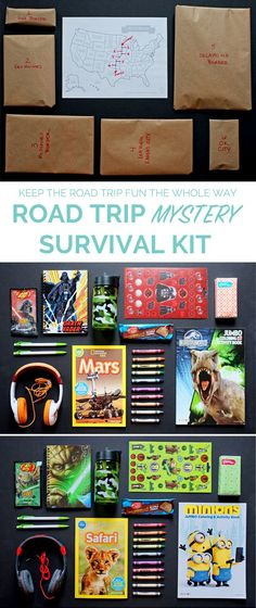How to make a Road Trip Mystery Survival Kit...and keep the road trip fun the whole way