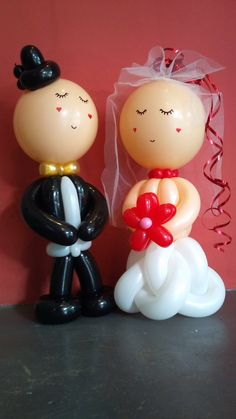 balloon groom and bride