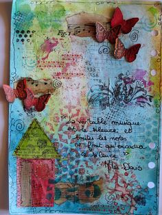 art journal. love how the butterflies come of the page