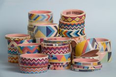 Sport a stack of geometric bangles.