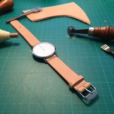 Made this super simple watch strap a few months ago. Scroll further down to see how the color has changed over time. Pretty easy project but super happy with the outcome. My other projects can be found here or on my youtube channel. After a few months of use …