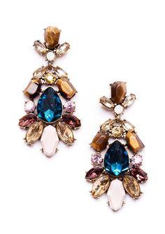 Treasure Chest Multitone Statement Earrings