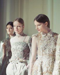 Aud Welzen & Sara Blomqvist at Valentino Haute Couture.