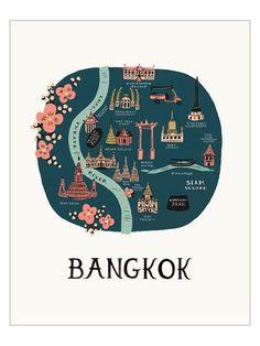 Bangkok Map - Rifle Paper Co. #thailandmap