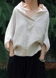 △☆idb #neutrals #fashion #style Linen Blouse