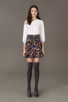 off the shoulder collar knee high socks See the complete Saloni Fall 2017 Ready-to-Wear collection.