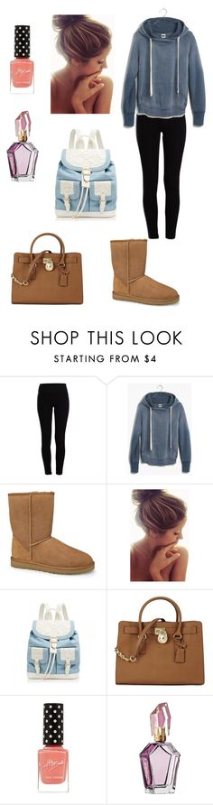 """""""Lazy day"""" by crazymofo34 ❤ liked on Polyvore featuring Pieces, Madewell, UGG Australia, Forever New and Michael Kors"""