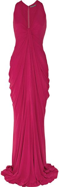 ALEXANDER MCQUEEN  Gathered Crepe Gown
