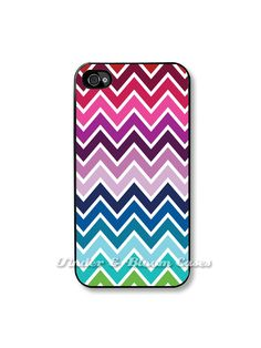 iPhone 4 Case Rainbow Chevrons Fits iPhone 4 and by TaBCase