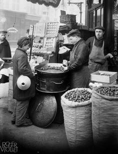 Marchand de marrons. Paris, 1907.