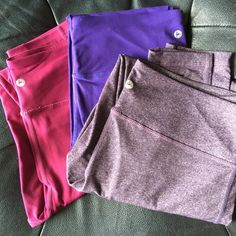 Like New Bundle of Leggings If you like Lululemon you will love 90 Degrees!  Same feel and fit!  I've worn each a few times and love them...have too many and cleaning out. 90 Degrees Pants Leggings