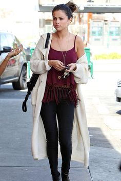 Selena Gomez fall outfit
