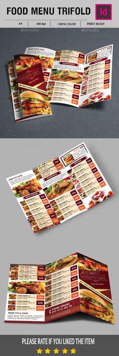 Vintage Restaurant Menu Flyer Template  Food Menu Templates