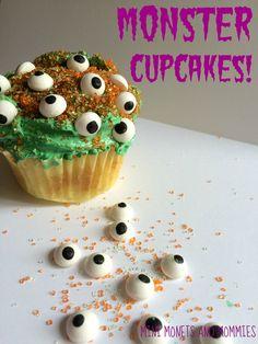 Halloween monster cupcakes.