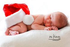 don't have the little man black suit for pictures? No worries here, sleepy Santa baby Hat has your rear covered!