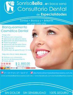 Sonrisa Bella en Boca Sana Ofrece Blanqueamiento dental en Fortín de las Flores Veracruz y Blanqueamiento Dental en Córdoba ver.
