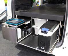 Gallery: Impressively packaged mini-camper vans that live surprisingly large Van Conversion Interior, Camper Van Conversion Diy, Jeep Camping, Van Camping, Mini Camper, Vw Camper, Jeep Wrangler Camper, Camper Van Kitchen, Truck Flatbeds