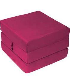 Single Mattress Cube Chair Bed Fuchsia 59 99