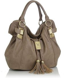 Purse Boutique: Taupe Oversized ''Savitha'' Hobo Vitalio Handbags, Purses