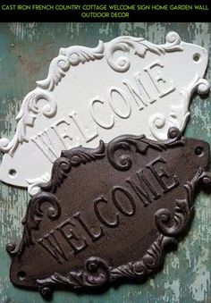 Cast Iron French Country Cottage WELCOME Sign Home Garden Wall Outdoor Decor #signs #products #fpv #racing #tech #technology #outdoor #gadgets #parts #shopping #camera #decor #plans #kit #drone