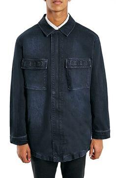 Topman+Oversize+Denim+Field+Jacket+available+at+#Nordstrom