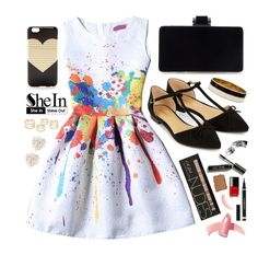 """""""Stylist: Colour Sleeveless Graffiti Print Jacquard Dress"""" by arrow1067 ❤ liked on Polyvore featuring Cara, Accessorize, J.Crew, Kate Spade, Bobbi Brown Cosmetics, Yves Saint Laurent, Elizabeth Arden, NARS Cosmetics and shein"""