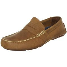 Polo Ralph Lauren Men\u0026#39;s Telly Penny Loafer, Tan Pull Up Leather, 10 D US -