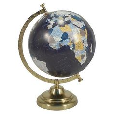 Items similar to Customize me! Hand painted globe, quote globe, floral globe, gold base world globe, gold globe on Etsy Gold Globe, Gold Home Accessories, Gold Desk, Gold Home Decor, Teacher Supplies, Office Supplies, 21st Gifts, Orient, Just In Case