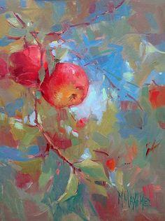 Apple Painting, Fruit Painting, Paintings Of Fruit, Apple Art, Guache, Fruit Art, Pastel Art, Art Inspo, Creative Art