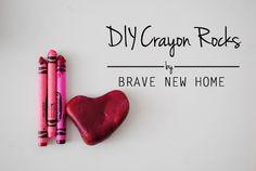 DIY Crayon Rocks - B
