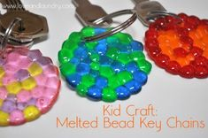 melted bead key chains1  going to try this we have a ton of beads!