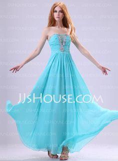 Evening Dresses - $133.99 - A-Line/Princess Strapless Floor-Length Chiffon Charmeuse Evening Dresses With Ruffle Beading (017014386) http://jjshouse.com/A-line-Princess-Strapless-Floor-length-Chiffon-Charmeuse-Evening-Dresses-With-Ruffle-Beading-017014386-g14386