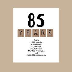 85th Birthday Card The Big 85 1930 Milestone