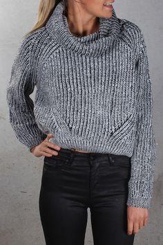 Macguire Crop Knit Black
