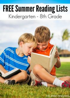 Ultimate Summer Reading Lists For Kids (Grades K-8) - Elementary through Middle School