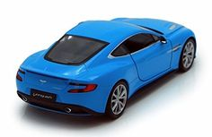 Welly Aston Martin Vanquish 1/24 Scale Diecast Model Car Blue - Diecast Model Cars