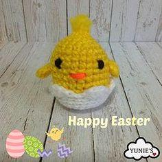 Free Crochet Pattern : Chick in Egg
