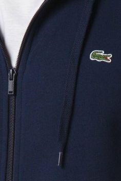 #Lacoste Glc Full Zip Cotton Fleece Hooded #Sweatshirt