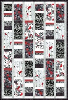 Free Quilt Pattern: Woodsy Winter black-white