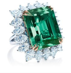 Harry Winston emerald and diamond ring, at harrywinston.com.  Exquisite!