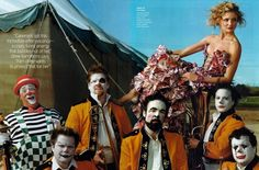"""The Terrier and Lobster: """"Shooting Star"""": Cameron Diaz at the Circus by Annie Leibovitz for US Vogue"""