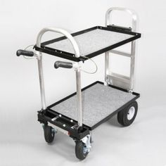 "This Magliner Mini Cart w/ 8"" Casters , G5 Shelf & Locking Handles is a custom cart designed with digital imaging professional in mind. Whether you need to transport gear or move heavy products, this is your answer. The Magliner mini cuts down the length of the original Magliner Junior by 10 1/2"" and 3"" from the width. It has been a favorite with still photographers, digital capture and camera/video operators using the latest digital gear. All Magliner accessories work with this cart, in…"